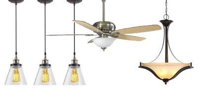 Lighting fixtures, lights, ceiling fans, sump pumps, electrical supplies.