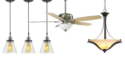 Lighting fixtures, lights, ceiling fans, sump pumps, electrical supplies.